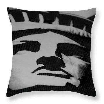 Statue Of Liberty In Black And White Throw Pillow by Rob Hans