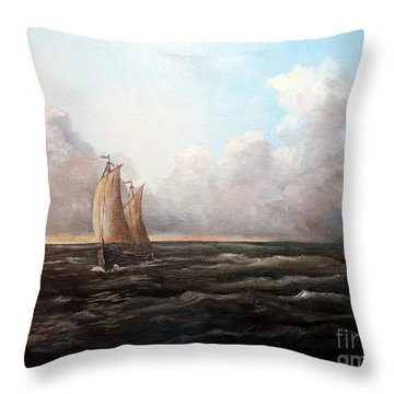 Staying Ahead Of The Weather Throw Pillow by Lee Piper