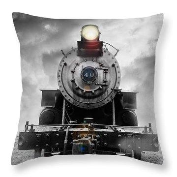 Steam Train Dream Throw Pillow by Edward Fielding