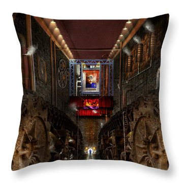 Steampunk - Dystopian Society Throw Pillow by Mike Savad