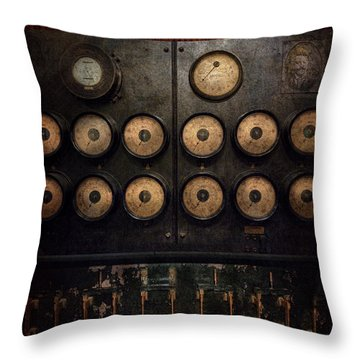 Steampunk - Electrical - Center Of Power Throw Pillow by Mike Savad