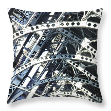 Steel Arches Throw Pillow by Sarah Loft
