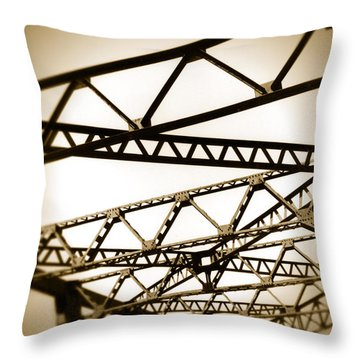 Steel Lines Throw Pillow by Timothy Bischoff