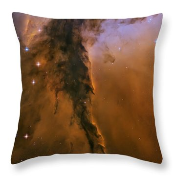 Stellar Spire In The Eagle Nebula Throw Pillow by Adam Romanowicz