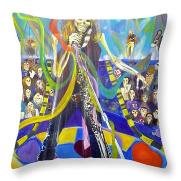 Steven Tyler In 50 Years Throw Pillow by To-Tam Gerwe