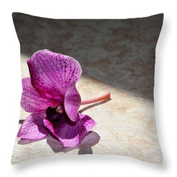 Still Beautiful Throw Pillow by Ramona Matei