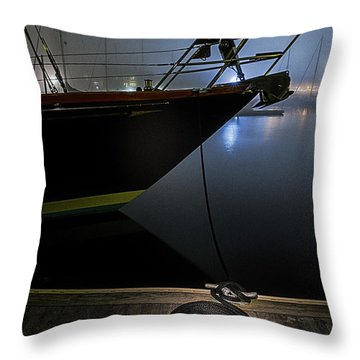 Still In The Fog Throw Pillow by Marty Saccone