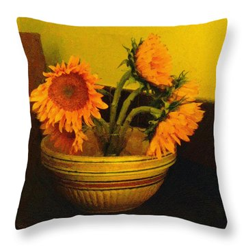 Still Life September Throw Pillow by RC deWinter