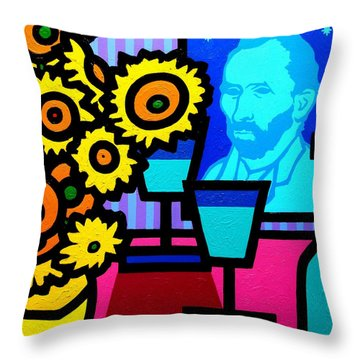 Still Life With Vincent Throw Pillow by John  Nolan