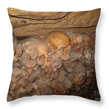 Still We Must Wait In Line Throw Pillow by John Malone