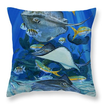 Stingray City Re0011 Throw Pillow by Carey Chen