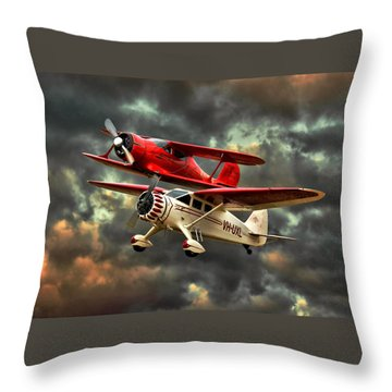 Stinson And Beech Throw Pillow by Steven Agius
