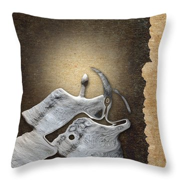 Stone Men 29 - Love Rythm Throw Pillow by Variance Collections