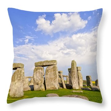 Stonehenge Stone Circle Wiltshire England Throw Pillow by Colin and Linda McKie