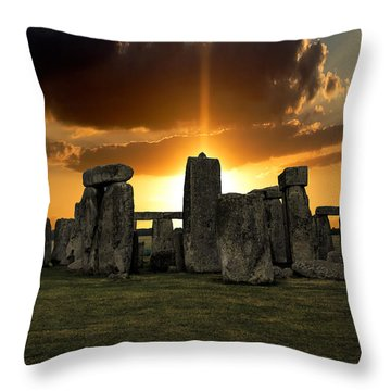 Stonehenge Wiltshire Uk Throw Pillow by Martin Newman