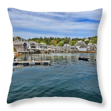 Stonington In Maine Throw Pillow by Olivier Le Queinec