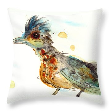 Stop And Smell What? Throw Pillow by Dawn Derman