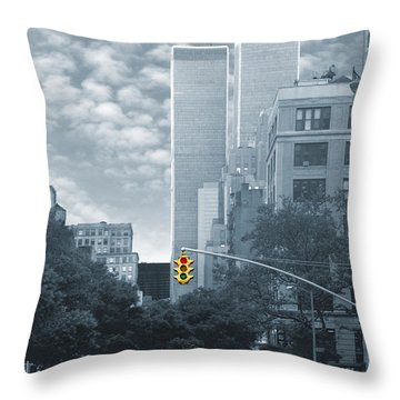 Stop Throw Pillow by Mike McGlothlen