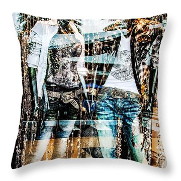 Store Window Display Throw Pillow by Rudy Umans