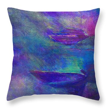 Storm Boats Throw Pillow by Claire Bull