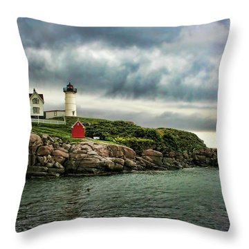 Storm Rolling In Throw Pillow by Heather Applegate