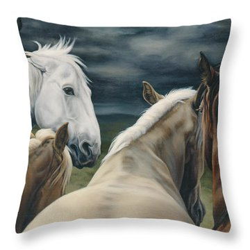 Storm Warning Throw Pillow by JQ Licensing