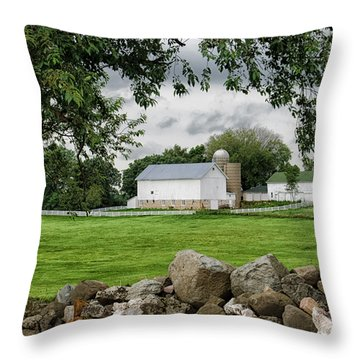 Storms On The Way Throw Pillow by Christi Kraft