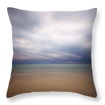 Stormy Calm Throw Pillow by Adam Romanowicz