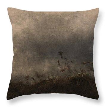 Stormy Mondays Throw Pillow by Ron Jones