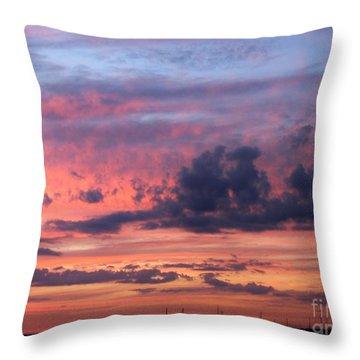 Stormy Skies Throw Pillow by Dora Sofia Caputo Photographic Art and Design