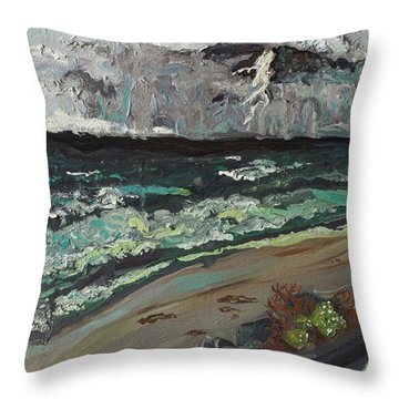 Stormy Weather Throw Pillow by Joseph Demaree