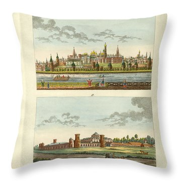 Strange Buildings In Russia Throw Pillow by Splendid Art Prints