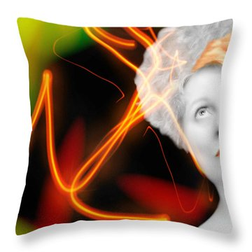 Streak Throw Pillow by Diana Angstadt