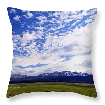 Streaming Sky Throw Pillow by Jeremy Rhoades