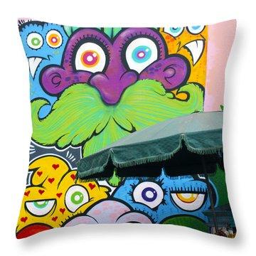 Street Art Lima Peru 2 Throw Pillow by Kurt Van Wagner