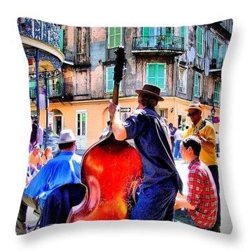 Street Jammin Throw Pillow by Robert McCubbin
