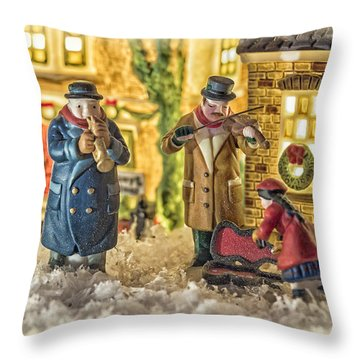 Street Musicians Throw Pillow by Caitlyn  Grasso