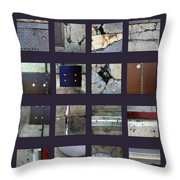 Streets Of New York Poster Throw Pillow by Marlene Burns