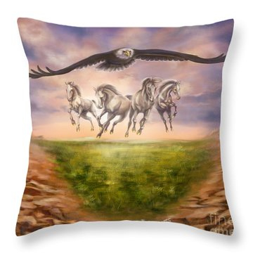 Strength Of The Horse Throw Pillow by Tamer and Cindy Elsharouni