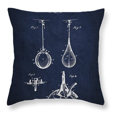 Striking Bag Patent Drawing From1891 Throw Pillow by Aged Pixel