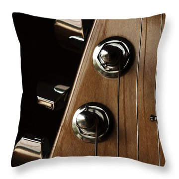 Strings Wrapped Throw Pillow by Karol Livote
