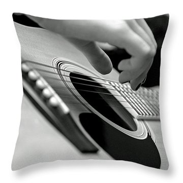 Strum Throw Pillow by Lisa Phillips