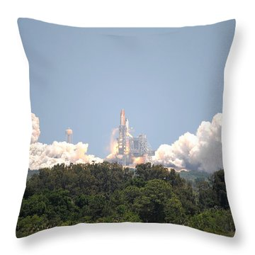 Throw Pillow featuring the photograph Sts-132, Space Shuttle Atlantis Launch by Science Source