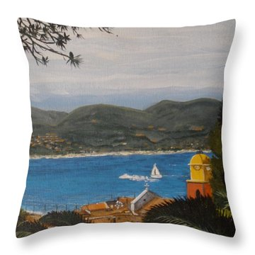 St.tropez France Throw Pillow by Betty-Anne McDonald