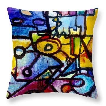 Suburbias Daily Beat Throw Pillow by Regina Valluzzi