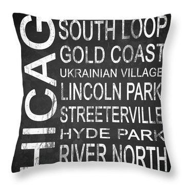 Subway Chicago 2 Throw Pillow by Melissa Smith