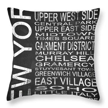 Subway New York 2 Throw Pillow by Melissa Smith