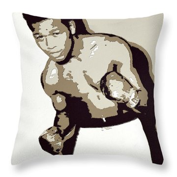 Sugar Ray Robinson Throw Pillow by Florian Rodarte