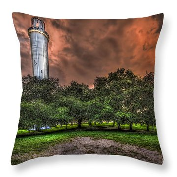 Sulfur Springs Tower Throw Pillow by Marvin Spates