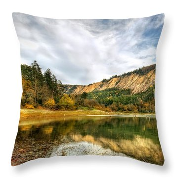 Suluklu Lake Throw Pillow by Leyla Ismet